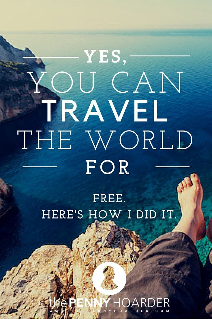 Wondering how to travel the world for free? After years of globetrotting, I'm ready to share a few of my secrets… - The Penny Hoarder http://www.thepennyhoarder.com/travel-the-world-for-free/