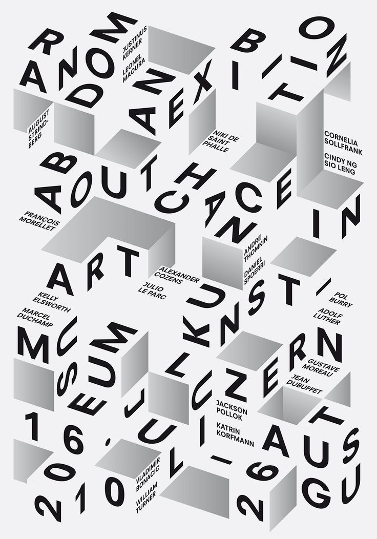 typeonly:  Random, poster designed by Felix Pfäffli (2010) –Type OnlyUnit Editions