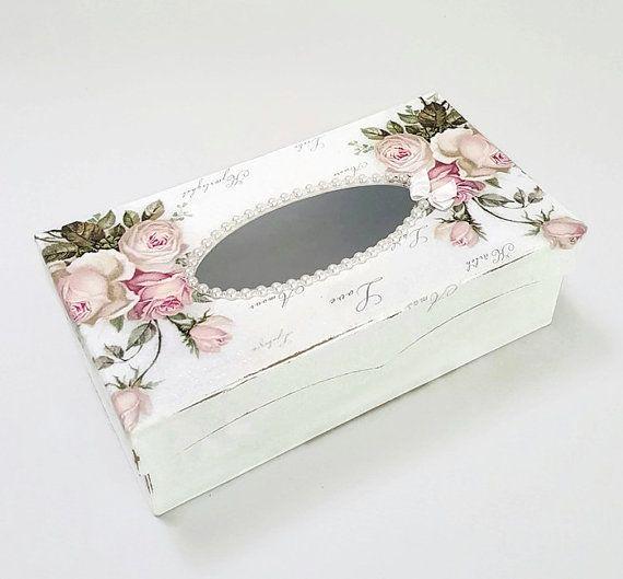 Cubierta de caja del tejido caja del tejido por Chiclaceandpearls