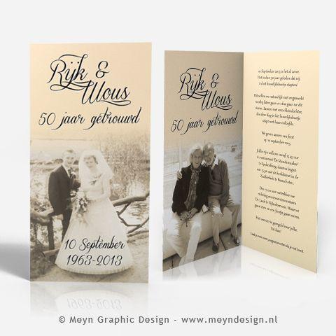 50 jaar getrouwd 50 years of marriage anniversary www.meyndesign.nl