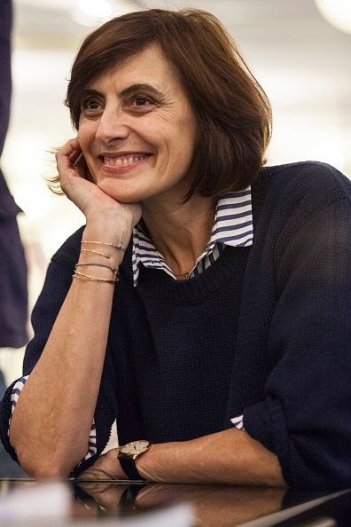 Author Ines De La Fressange during the presentaion of her book 'Parisian Chic Look Book: What Should I Wear Today?' at the Galleria Carla Sozzani on March 23, 2017 in Milan, Italy. ~ Follow my board (La Parisienne @ Lyne Labrèche) for more inspiration!