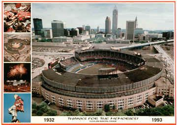 Cleveland Indians Stadium Field Photo, Cleveland Indians Thanks for the Memories Poster, Cleveland Skyline Pictures