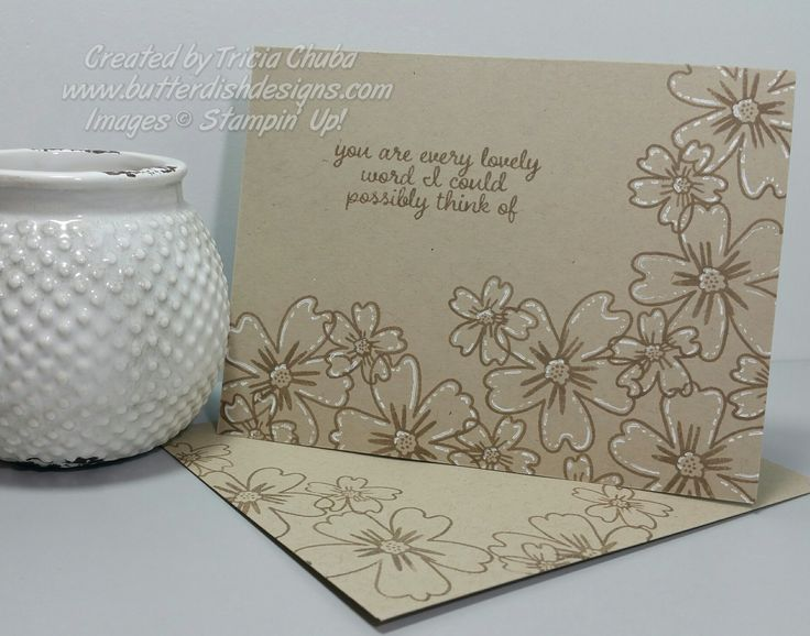 Here is a simple yet striking card for day 3. I used Crumb Cake ink and paper for a tone on tone look then added some white gel pen accents to make it pop. Today's card features a new stamp set cal...