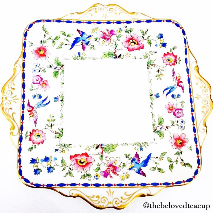 Star Paragon Floral Bird Cake Plate by TheBelovedTeacup on Etsy https://www.etsy.com/ca/listing/474050295/star-paragon-floral-bird-cake-plate