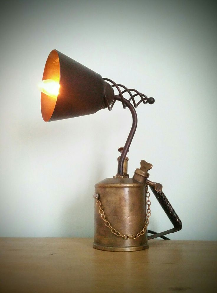59 best oil gas can table lamps images on pinterest lamp for Gas pipe desk lamp