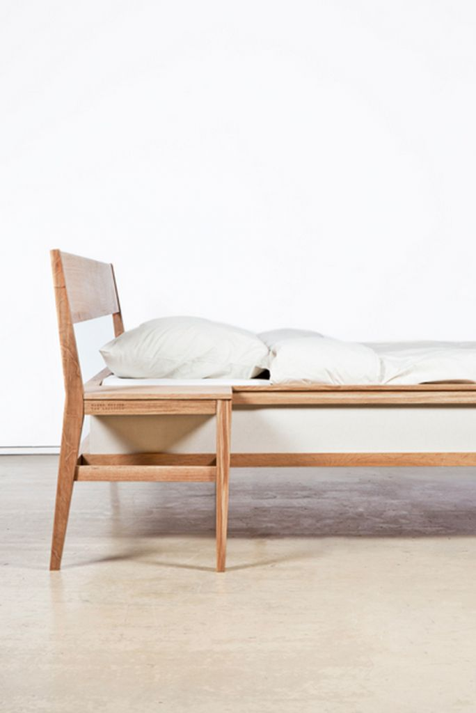 Lit avec tables de chevets intégrées par Roy Letterle - Blog Déco Design