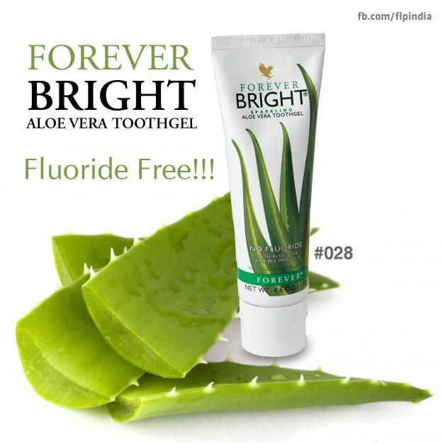 Forever Bright is a gentle, non-fluoride formula combining 100% stabilized aloe vera gel with bee propolis.
