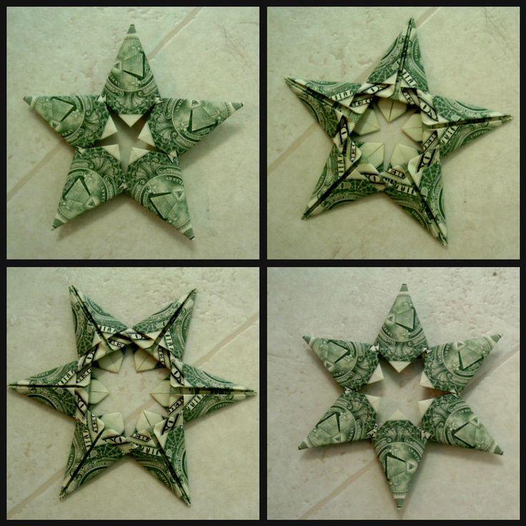 Origami Stars made with dollar bills