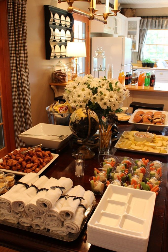 Food ideas for the graduation party: