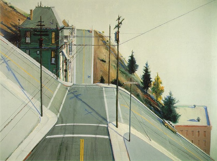 Wayne Thiebaud | 24th Street Intersection, 1977