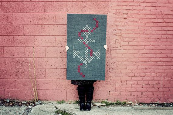 Giant cross stitch