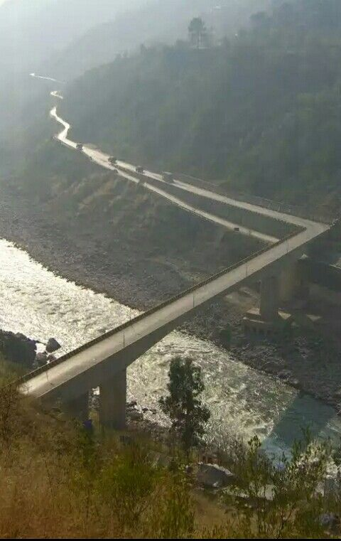 KOHALA BRIDGE.. Kohala is a town in Pakistan on the River Jhelum, north of Murree, south of Muzaffarabad, and east of Circle Bakote.