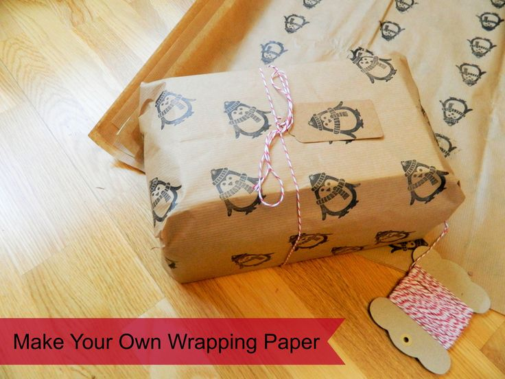Make your own eco wrapping paper