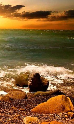 Evening SeaShore by kasrin.knackebrot