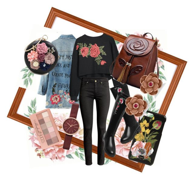 """Vintage flowers #1"" by bernadett-soos on Polyvore featuring Maybelline, WithChic, Dolce&Gabbana, Skagen, Allurez and vintage"
