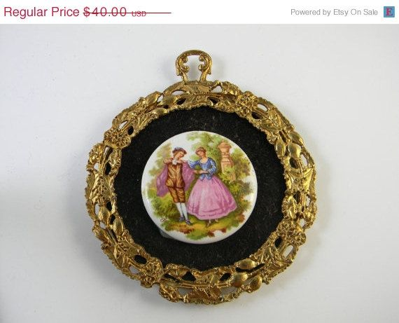 Vintage Fragonard porcelain cameo mounted and by FeliceSereno, $14.00 -  65% off!!!