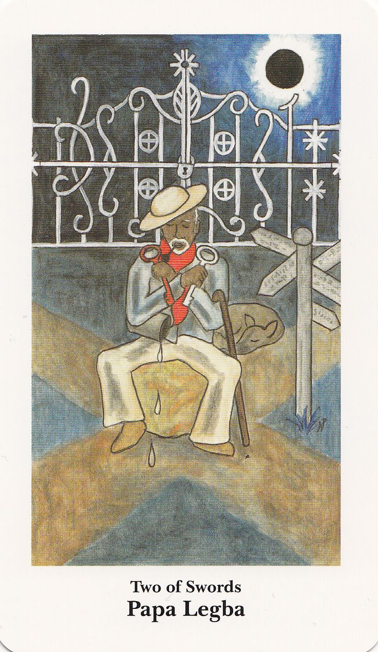 Tarot depiction of Papa Legba.