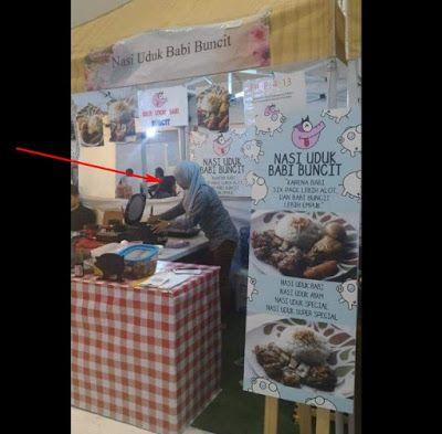 Berita Eceran - Foto Penjual Nasi Uduk Babi Buncit ini memang asli adanya dan bukan rekayasa dan embak ini memang seorang muslimah berikut penjelasan dan klarifikasinya