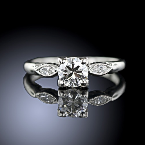 1950's Engagement ring! So elegant!
