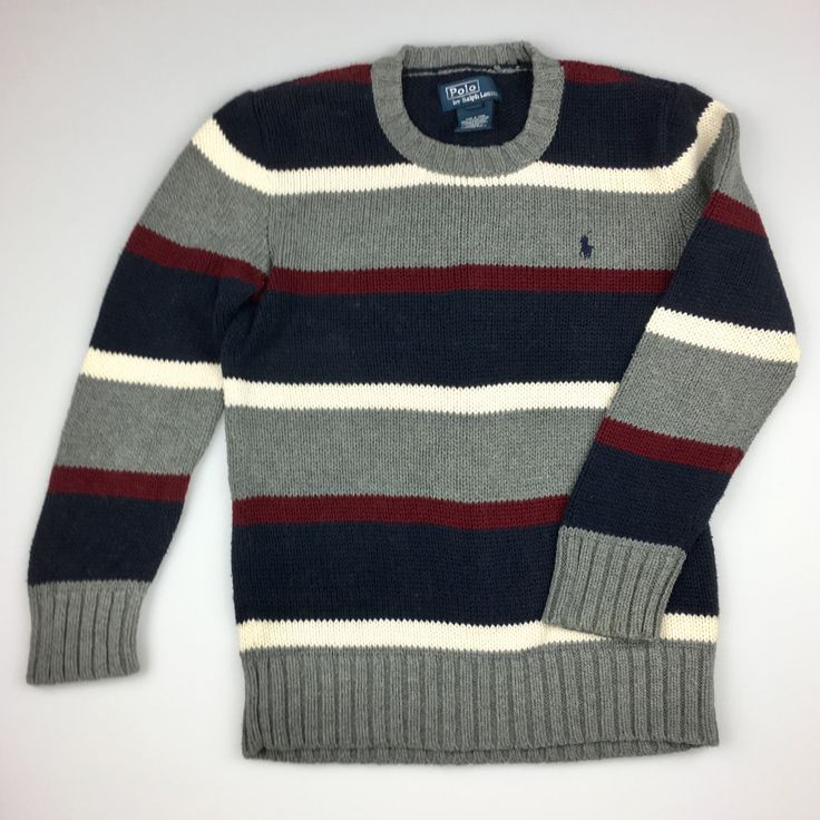 POLO by Ralph Lauren, boy's knitted cotton jumper, good pre-loved condition (GUC), size 6, $26