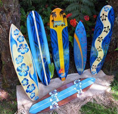 Original Made In Hawaii Custom Artistic Surfboards