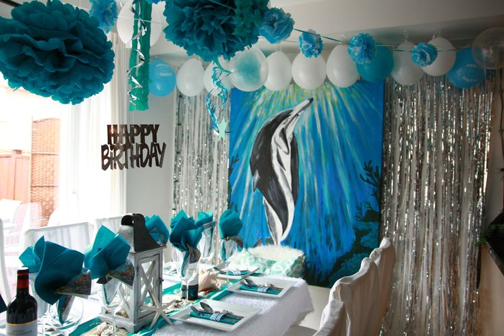 Underwater theme party