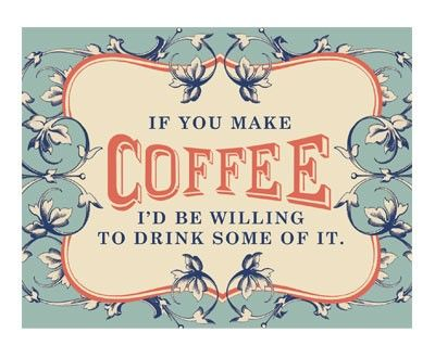 Coffee, the magical ingredient that brings friends together...