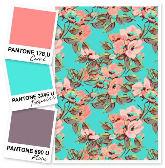 Office color scheme: Coral, Turquoise and Plum Color Palette by Sarah Hearts
