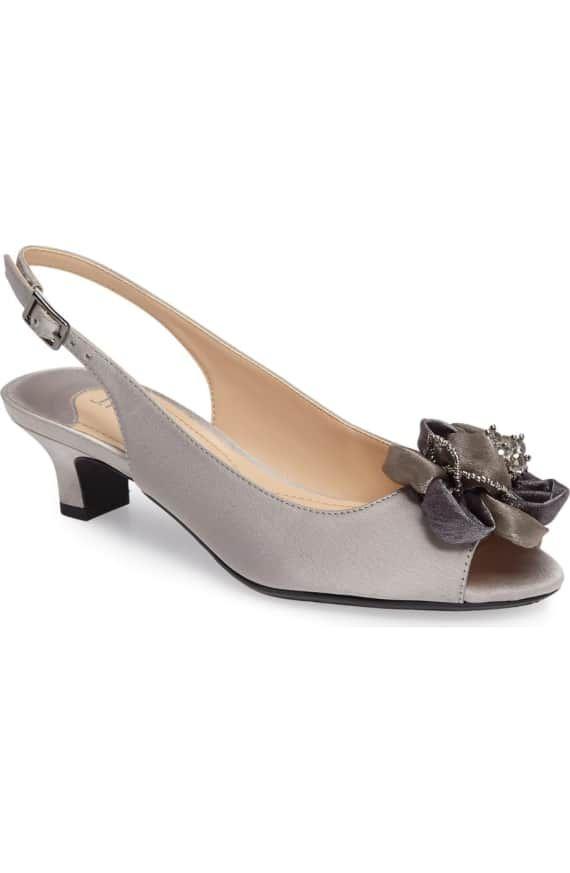 c02e319e9d J. Reneé Leonelle Slingback Crystal Embellished Sandal (Women) | Nordstrom Kitten  Heel Sandals