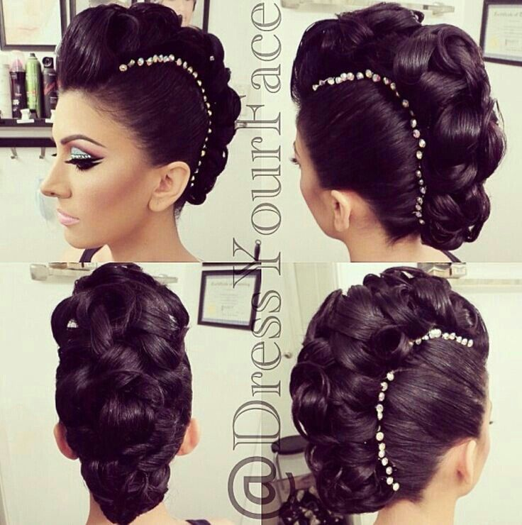 Fancy mohawk updo with gems!-google curly mohawk.
