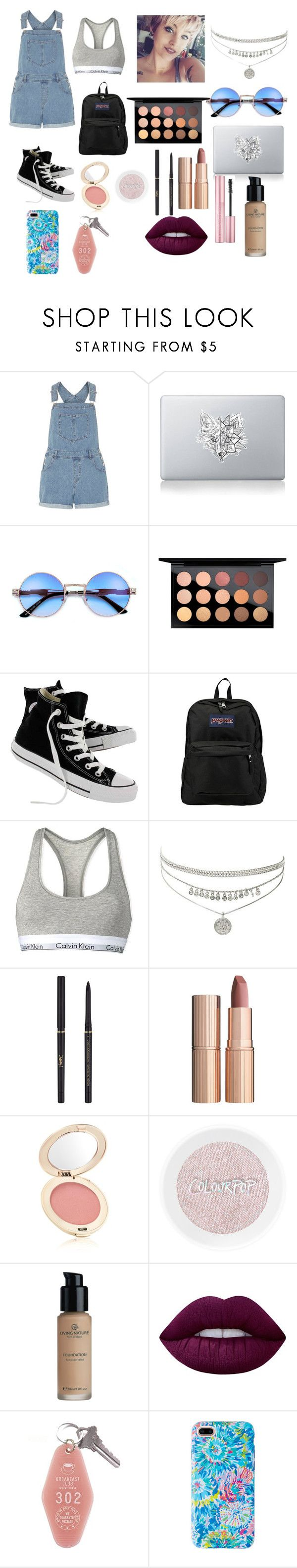 """""""What I would wear to hangout with my friends"""" by jordyncyprian ❤ liked on Polyvore featuring Dorothy Perkins, Vinyl Revolution, MAC Cosmetics, Converse, JanSport, Calvin Klein, Yves Saint Laurent, Charlotte Tilbury, Jane Iredale and Lime Crime"""