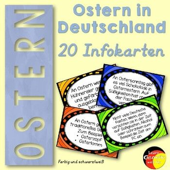 Facts about Easter in Germany- Taskcards - Ostern in Deutschland