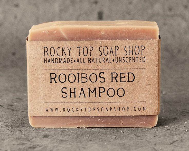 Solid Shampoo Bar with Rooibos Red Tea - All Natural Soap, Unscented Soap, Handmade Soap, Cold Process Soap. via Etsy.