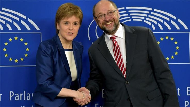 """Scottish leader says Scotland is """"determined"""" to stay in the bloc despite Brexit vote after meeting senior EU officials."""