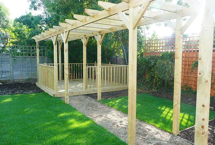 Ideas for landscape timbers garden decking designs ideas for Decking at end of garden