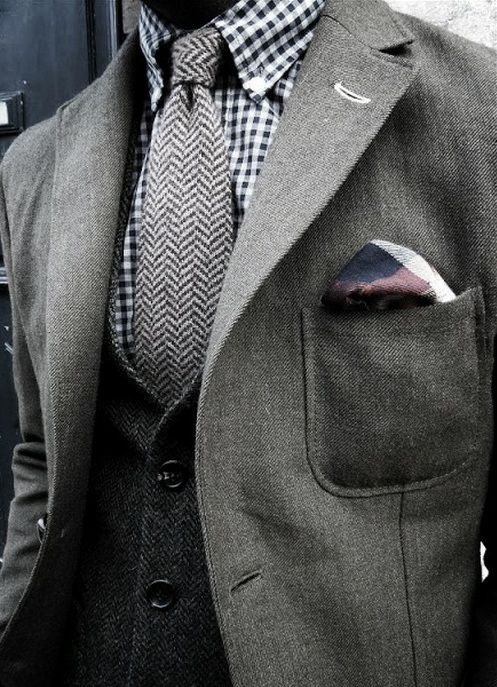 How to rock herringbone patterns with multiple layers and shades.  A great warm look for the winter cold.