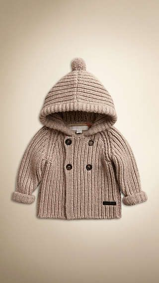 Hooded Cashmere Knitted Jacket