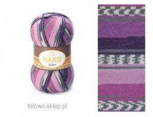włóczka Nako Boho 81260 w tonacji lila