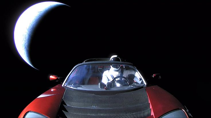 SpaceX CEO Elon Musk has unveiled the final photo of his Tesla Roadster and its Starman mannequin sailing off into deep space after launching on the first Falcon Heavy rocket Tuesday (Feb. 6), and it is spectacular.