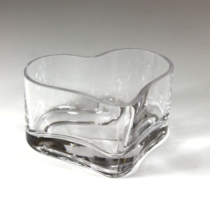 Stor hjerteskjuler i klart glas
