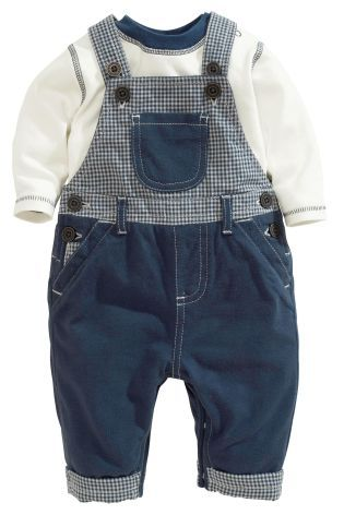 Buy Navy Dungarees And Bodysuit Set (0-18mths) from the Next UK online shop
