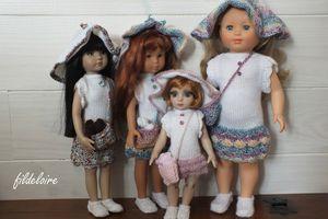 Nouvelle robe pour la poupée Marie-Françoise de Petitcollin dite aussi Modes et Travaux – fildeloire