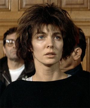 Nikita (Anne Parillaud) during the trial