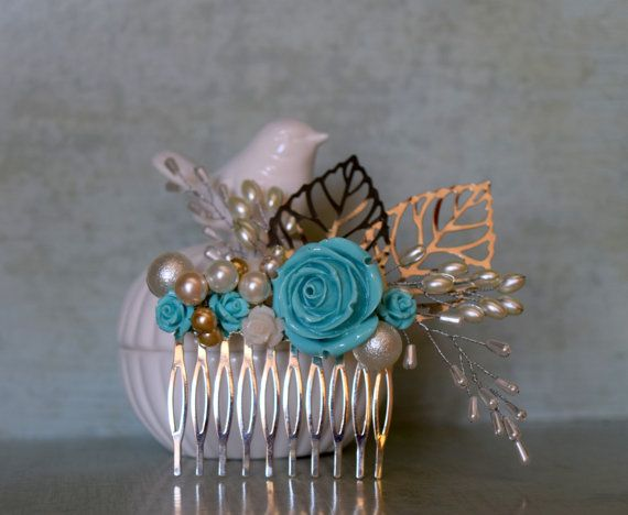 Check out this item in my Etsy shop https://www.etsy.com/listing/464342776/bridal-comb-something-blue-tradition