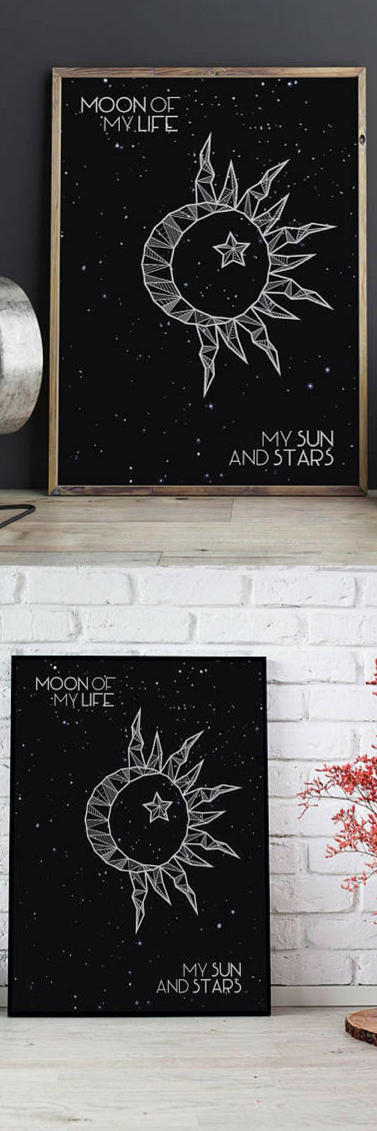 This would be a great gift for a partner and would a beautiful addition to any room! I love game of thrones and I really wish kal drogo and daenerys would have taken the iron throne!   Moon of My Life My Sun and Stars, Game of Thrones Poster, Couple Gift,  Daenerys Targaryen, Khal Drogo, Game of Thrones Wall Art, GoT Decor #giftideas #ad #gameofthrones #valentinesideas #homedecorideas #livingroomdecor #bedroomdecor