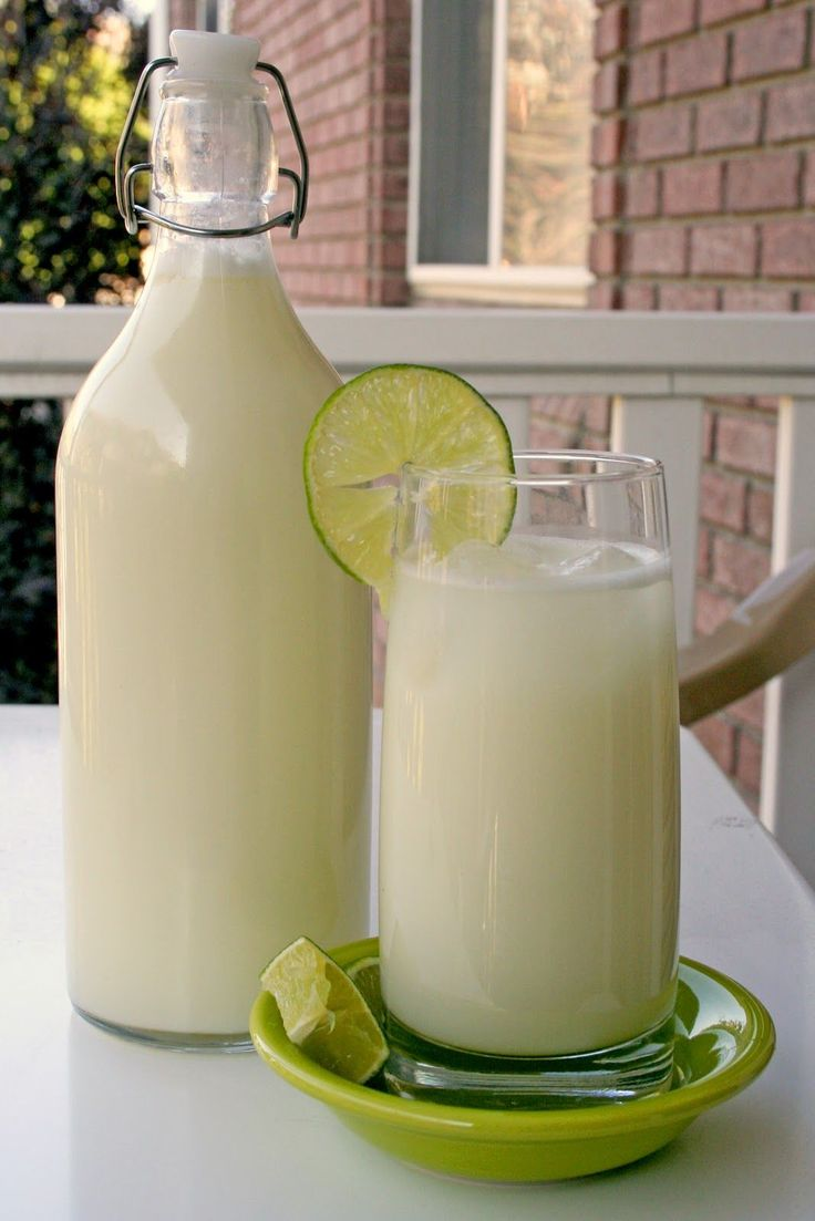 "Brazilian ""Lemonade"". We made this along with Anna's Mexican Coconut Eggnog...delish!"