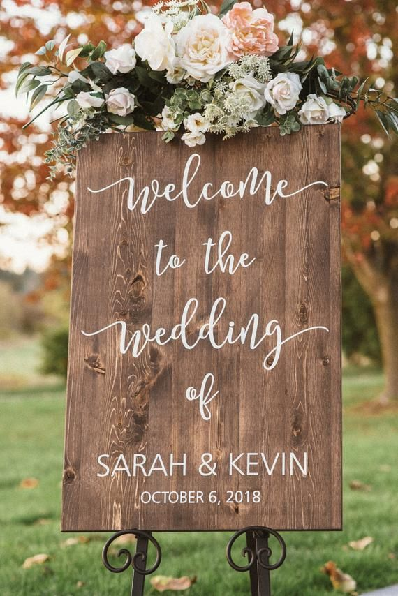 Wedding Welcome Sign Welcome To Our Wedding Wood Wedding Etsy Wood Wedding Signs Wedding Welcome Signs Welcome To Our Wedding