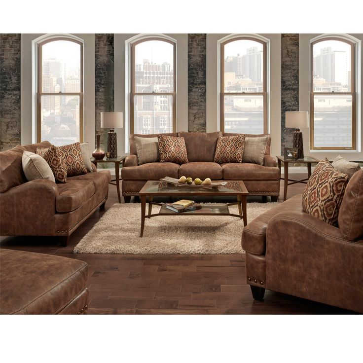 Indira Faux Leather Sofa Collection. Leather Living RoomsLiving ... Part 93