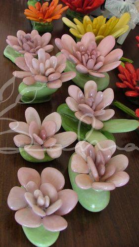 Taş çiçeklerim  Baharca tasarım  handmade