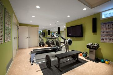 Home Gym Paint Colors   Canterbury - contemporary - home gym - vancouver - by CCI Renovations